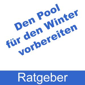 Den Pool für den Winter vorbereiten